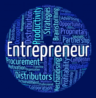 Entrepreneur world means businessman dealer