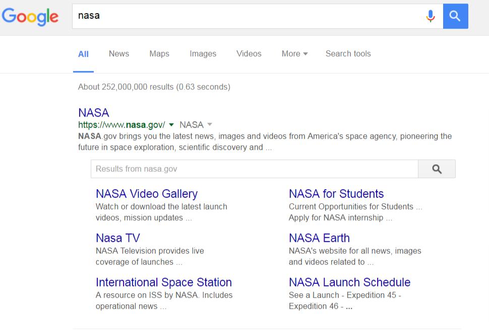Google Search Nasa